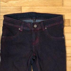 CARMAR dark purple jeans with side zippers